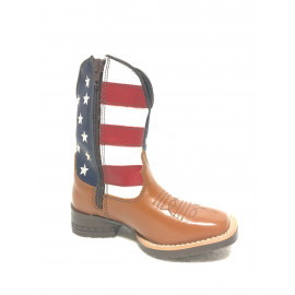 BOTA INFANTIL LAT HAVANA/USA BULL LEATHER