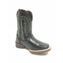 BOTA INFANTIL AT PRETO BULL LEATHER