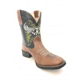 AREIA/PRETO2510/00 HELAZZA lateral bota bico quadrado