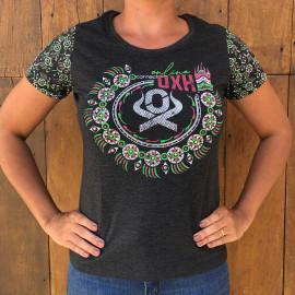 T-SHIRT FEMININA CHUMBO 6182 OX HORNS