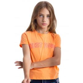 T-SHIRT INFANTIL TS27030 LARANJA WEST DUST