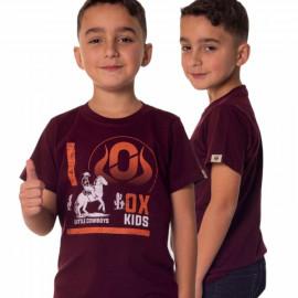 CAMISETA INFANTIL ESTAMPADA BORDO 5093 OX HORNS